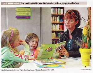 Vorlesen in der Bücherei